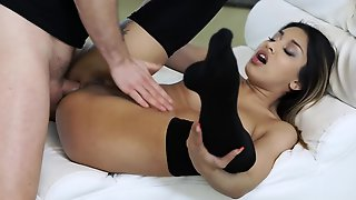Horny Stud Gives That Adorable Babe Deep Anal Dicking