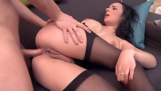 Deep Butt Sex Stretching And Double Penetrations With Dildo