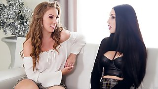 Two Sexually Seductive Lovelies Talking About Their Upcoming Lesbian Movie