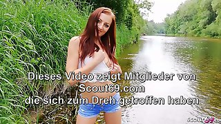 POV Beach Sex With Cute German Redhead Teen At First Date