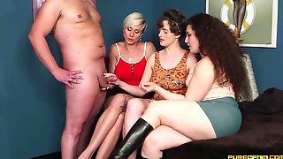 CFNM Foursome - Katie Olsen, Lili Miss Arab And Tanya Virago Sharing Cock