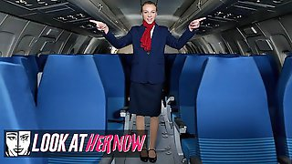 Look Ather Now - Sexy Air Stewardess Angel Emily, Been Anal Dominated By A Male Stud
