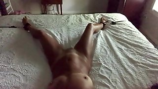 Hot MILF At 55 Tied Down, Licked, Fucked To Cum 5X
