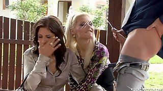 Amazing Hot Babes Fully Clothed Pissing Threesome Fetish