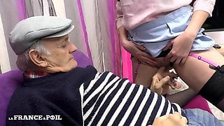 Horny Old Fart And Dirty French Maid