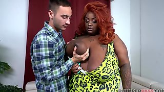Black Slut With Red Hair, Zariah June Likes To Get Fucked In A Doggy- Style Position