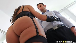 A 50something Cougar In Gloves Takes A Fat Cock Up Her Tight Asshole.