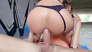 Anya Krey Rides The Big Boner With Her Asshole