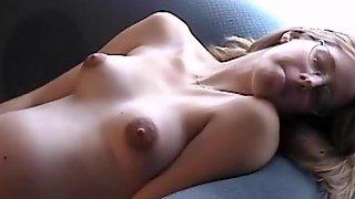 Skinny Pregnant Woman With Puffy Nipples Masturbates