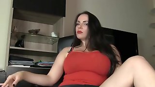 Sensuous Dark-haired Domme Cant Stop Making Folks Wank Off During A Fresh Jerk Off Instructions Sesh, At Home