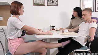 Natural Hungarian Babe Angel Kriss Just Never Gets Tired Of FFM Threesomes