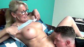 Horny Stepmom Teaching Sex