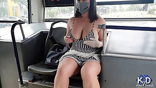 Stranger Controls My Hitachi Till I Burst On The Bus+then Steals My Thong