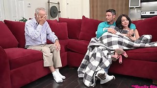 Riley Jean Gets Pounded Hard Next To Grandpa