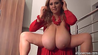 Lady With The Red Dress On Monster Tits