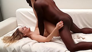 Behind The Scenes After A Camera Sesh Teen Gets Brutally Nailed By Joss Lescafs Big Ebony Dick.