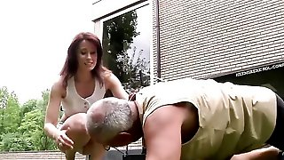 Young Girl Fucked By Old Man In Her Pussy And Mouth She Gives Best Blowjob