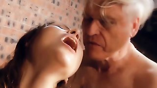 Grandpa Fucks Young Pussy The Teen Gives Blowjob And Swallows Cock