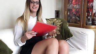 Leggy Hungarian Estate Agent Fucks British Client