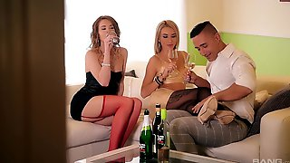 Amazing Anal Threesome With Provocative Tequila Girl & Melissa Benz
