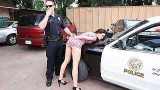 Blue-eyed Sex Goddess Lana Rhoades Is Sucking By The Car