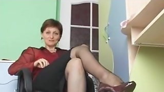 Sexy Lady With Amazing Legs Teases