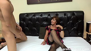 Rich Spoiled Mature Lady Hires Two Male Prostitutes To Fuck Her