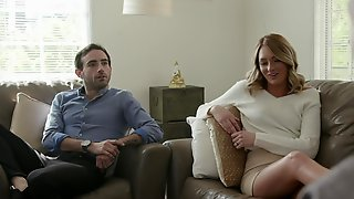 Man Takes And Fucks Wife Before Chickenshit Husband Who Watches