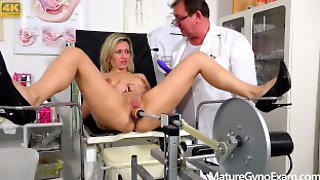 Shy Submissive MILF Made To Cum In Gyno Chair