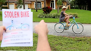 Thats A Stolen Bike!!! - Creepy Klepto Leah Lee Rides