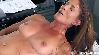 A 50soemthing Sexy Cougar Takes A Young Big Cock Up Her Mature Twat