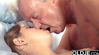 Grandpa Puts His Dick Inside Teen Pussy