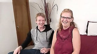 Nerdy Blonde Mom Is Doing Her First Casting Couch Interview