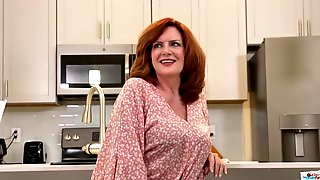 Andi James Is Regularly Milking In The Kitchen And Attempting Not To Groan Too Noisy, While Nutting