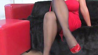 Danica In Red Dress - Danica Collins