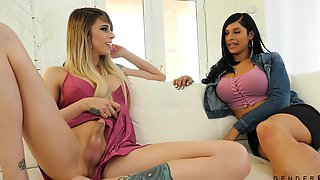 Super Sexy Ladyboys Are Fucking Each Others Anal Holes