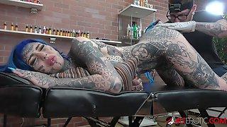 Kinky Inked Slut Amber Luke Gets Ass Fucked And An Asshole Tattoo - Fetish Hardcore
