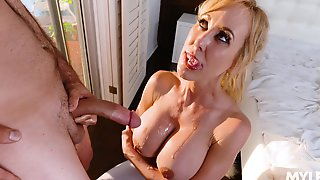 Messy Facial And Mouthful Of Cum Compilation Video