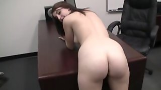 BACKROOM CASTING COUCH - 18yo Gabrielle Blows Cock And Takes That Dick Like A Super Cheerleader