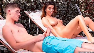 Beauty With Tattoos Alyssia Kent Opens Her Little Hole For A Big Dick
