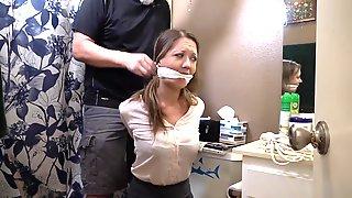 Hogtied In Girdle - Big Natural Tits In Bondage Fetish Session