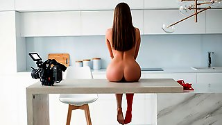 Cute Slender Chick In Stockings MaryQ Shows Off Her Body