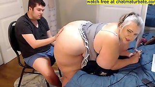 Slim Boy Fuck Bbw Girl - Homemade Webcam Hardcore With Fat Ass