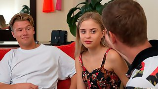Beauty Teen With Big Blue Blue Eyes Monica A Screwed In The Doggy Style