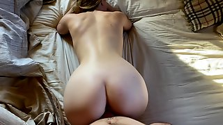 Hot Blonde Student Fucked Doggystyle And Thight Pussy Filled Up With Cum Like A Real Fuckdoll Slut