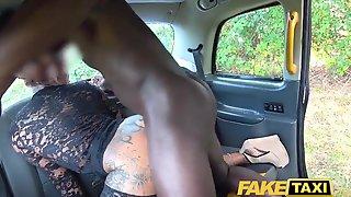 Faux Cab Fabulous Big-titted Inked Cougar Stripper Wants Hefty Ebony Man-meat