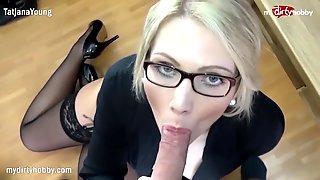 MyDirtyHobby - Gorgeous Blonde Boss Fucks Her Employee