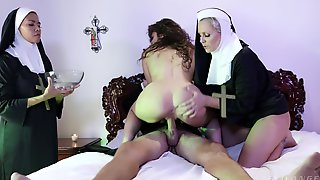 Horny Busty Nuns Fucked By One Lucky Priest