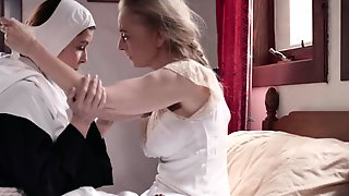 Busty Nun Nina Hartley Getting Licked By Her Friend