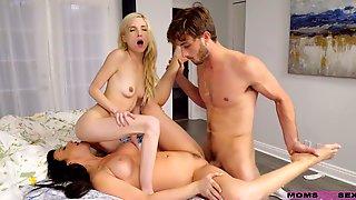 Surprise FFM Threesome For Naughty Stepmom